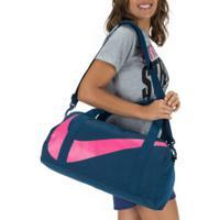 Mala Nike Gym Club - 25 Litros - Azul Esc/Rosa