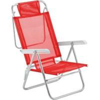 Cadeira De Praia Botafogo Varanda El Vermelha Até 130Kg