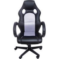 Cadeira De Escritório Raptor - Preta Com Branco