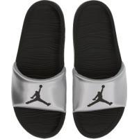 Chinelo Nike Jordan Break - Slide - Masculino - Preto/Prata