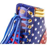 Patins Roller Bel Sports Mulher Maravilha 4 Rodas Azul/Vermelho