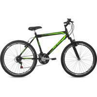 Bicicleta Aro 26 Mtb 21V Freio V-Brake Suspensão Jaws Mormaii - Unissex