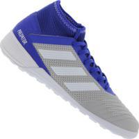 Chuteira Futsal Adidas Predator 19.3 In - Adulto - Cinza Cla/Azul