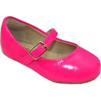 Sapato Boneca Envernizado- Pink Neon- Le Cutle Cut