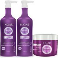 Kit Shampoo Inoar Speed Blond+Condicionador 1L + Mascara 500Ml