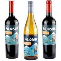 Vinho Tinto Filosur Malbec 2020 + Vinho Branco Filosur Chardonnay 2020 + Vinho Tinto Filosur Cabernet Sauvignon 2020