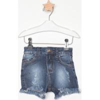 Short Jeans Estonado- Azul Escurocolcci
