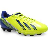 Chuteira Masc Infantil Adidas Q33919 F5 Trx Fg J Limao/Azul