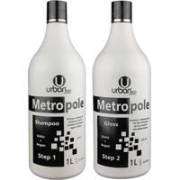 Escova Progressiva Metropole Ureia Argan 2X1 Litro - Urban Eco