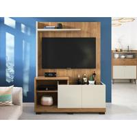 "Home Theater Para Tv Até 55"" Sofine Buriti/Off White - Caemmun"