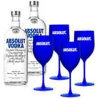 Kit Vodka Absolut 2 Unidades 1L + 4 Tacas