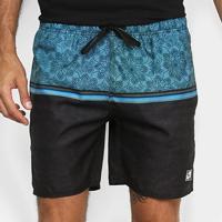 Shorts Ventury City X Masculino - Masculino-Preto+Azul