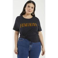 Blusa Com Estampa Feminist Curve & Plus Size