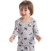 Pijama Unicórnio Estampado Infantil