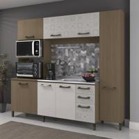 Cozinha Compacta Nature E Branco Azulejo