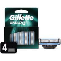 Carga Para Aparelho De Barbear Gillette Mach3 Com 4 Unidades 4 Unidades