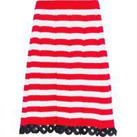 Miu Miu Crochet Straight Skirt - Vermelho