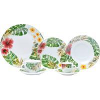 Aparelho De Jantar Com 42 Peças Em Porcelana Verde Amazon 8200 Lyor Classic