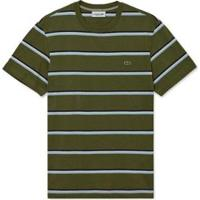 Camiseta Lacoste Listrada Masculina - Masculino-Verde+Azul