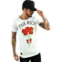 Combo: Camiseta Rich Young Long Buquê Branca Boné Buquê Preto