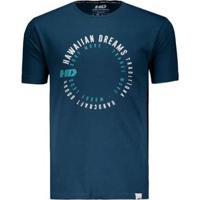 Camiseta Hd Estampada Swirl Masculina - Masculino-Azul