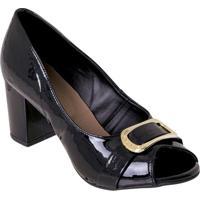 Sapato Preta Com Detalhe De Fivela