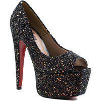 Sapato Feminino Zariff Peep Toe Zariff Preto