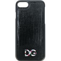 Dolce & Gabbana Capa Para Iphone 7 Com Logo - Preto