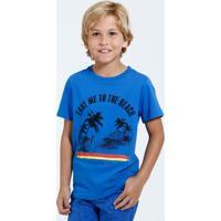Camiseta Infantil Manga Curta Surf Marisa