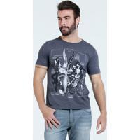 Camiseta Masculina Estampa Looney Tunes