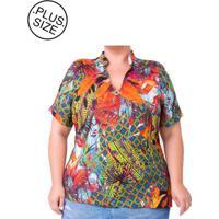 Blusa Plus Size - Confidencial Extra Estampada Mandala