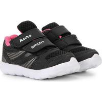 Tênis Infantil Kurz Velcro - Feminino-Preto+Pink