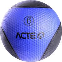 Medicine Ball Com 6 Kilos - Preto & Azul Marinho - Øacte
