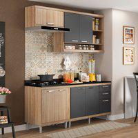 Cozinha Compacta Multimóveis 5811 Sicília 5 Peças Argila E Grafite