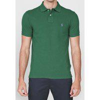 Camisa Polo Polo Ralph Lauren Slim Logo Verde