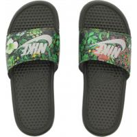 Chinelo Nike Benassi Jdi Print - Slide - Feminino - Verde Escuro