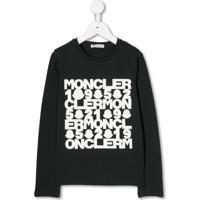 Moncler Kids Moletom Com Estampa De Logo - Preto