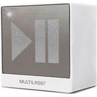 Caixa De Som Mini Multilaser Sp278 Bluetooth Função Hands Free 8W Rms Usb Branco
