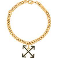 Off-White Arrow Charm Chain Bracelet - Dourado