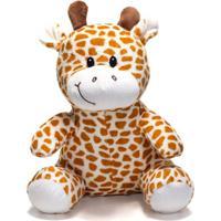 Bicho De Pelúcia Unik Toys 25 Cm Girafa Laranja - Kanui