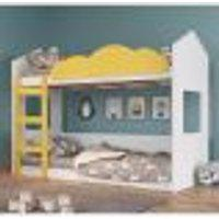 Beliche Montessoriana Casinha - Branco/Amarelo