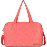 Bolsa Para Viagem Damasco- Coral- 26X40X17Cm- Jajacki Design