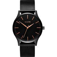 Relógio Mvmt Masculino Aço Preto - D-Mt01-Bbrg