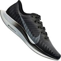 Tênis Nike Zoom Pegasus Turbo 2 - Feminino - Preto/Cinza Esc