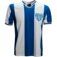 Camisa Liga Retrô Avaí 1975 - Masculino-Azul+Branco