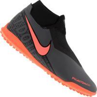 Chuteira Society Nike Phantom Vivsn Academy Df Tf - Adulto - Cinza Escuro