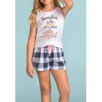 Pijama Short Doll Para Menina Família É Tudo 1111369 Lua Encantada