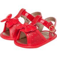 Sandália Pimpolho Baby Fofura Infantil Vermelha