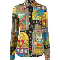 Moschino Camisa Com Estampa 'Fantasy' - Preto