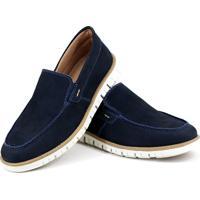 Mocassim Couro Tchwm Shoes Azul